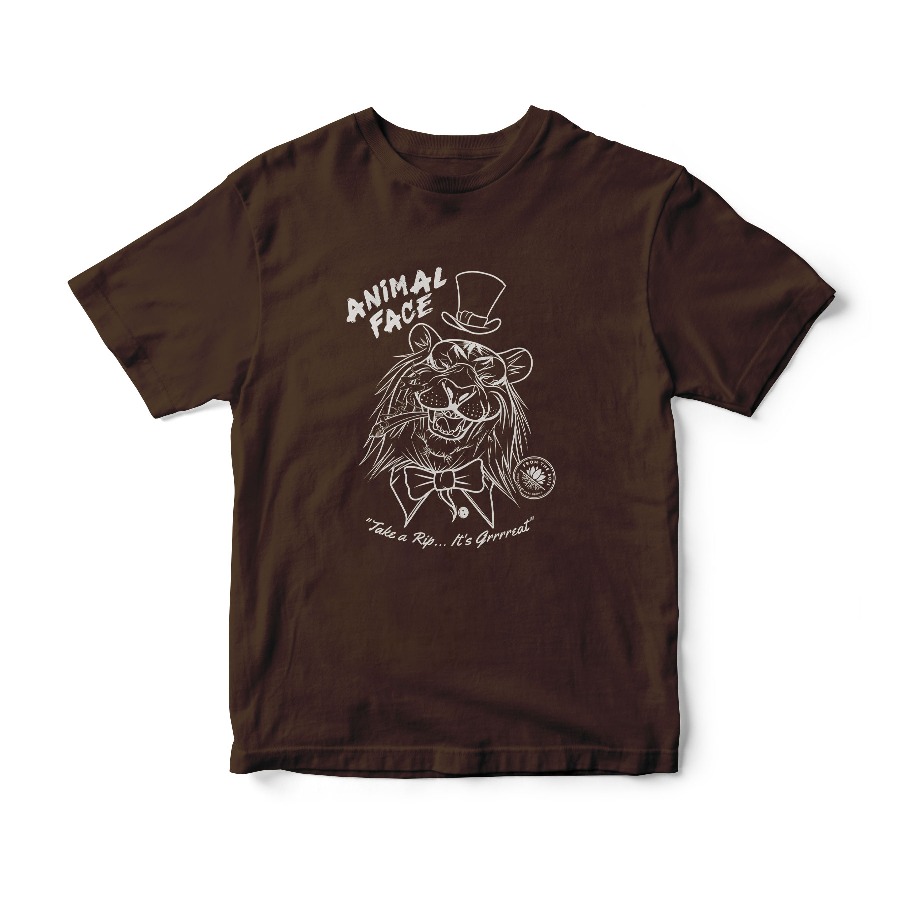 Animal Face (Colored Shirt)