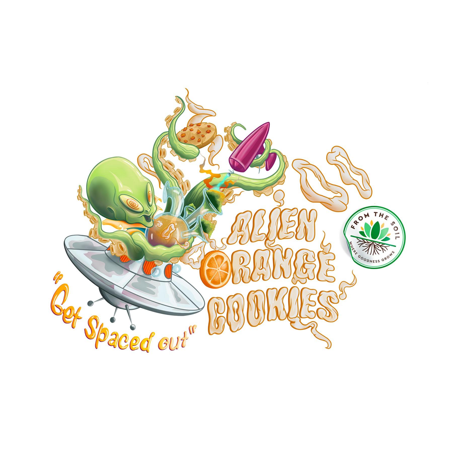 Alien Orange Cookies