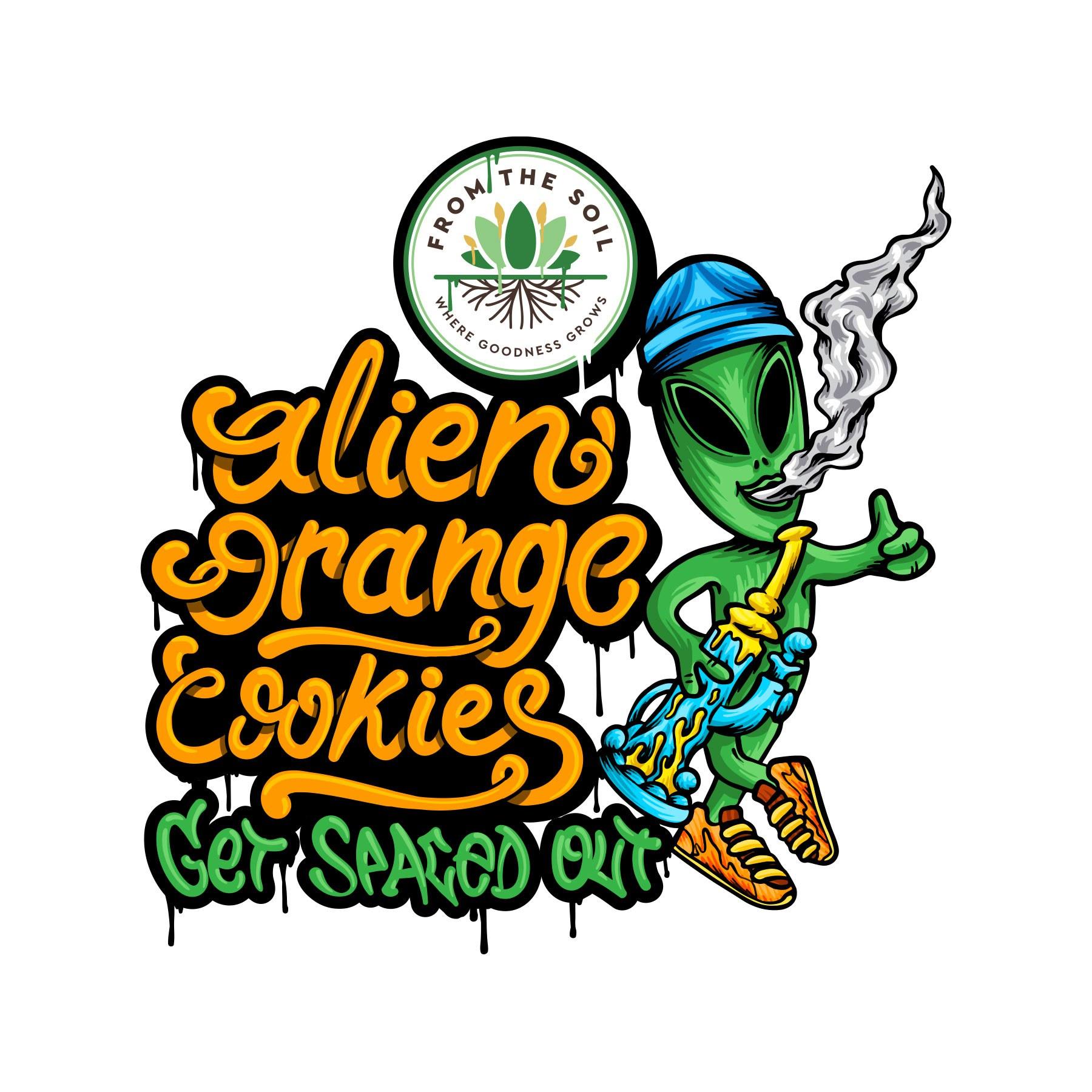 Alien Orange Cookies #2